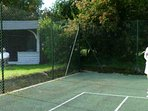 Book the all-weather tennis court by arrangement for friendly matches