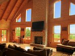Breathtaking Log Cabin in Wine Country Mount Airy with Blue Ridge Mountain View