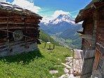 Grange et chalet - Chalet Nid d'Aigle, un mayen authentique en Valais