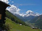 Terrasse, la vue - Chalet Nid d'Aigle, un mayen authentique en Valais