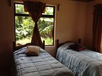 This is the bedroom with two twin beds.