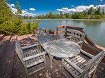 Deck on water near dock