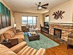 Living Area w/ gas fireplace