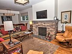 Living Area with beautiful gas fireplace
