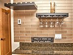 Wine rack in kitchen