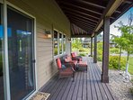 Deck with views and furnishings