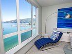 Daybed for reading w lake views