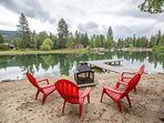 Fire pit and  dock in protected waterway