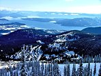 Views of Lake Pend Oreille on clear days