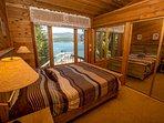 Bedroom facing lake