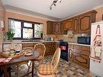 Kitchen at Glan Y Mor holiday cottage