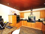 Kitchen well fitted at this Anglesey holiday home with wifi