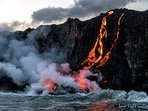 Lava is flowing into the ocean again after 3 years - hike in, or take a boat or helicopter.