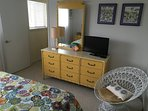 3d BR upstairs with brand new queen bed.