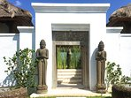The entrance to Villa Bahagia- a warm welcome