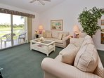 Living Room with Sleeper Sofa & Balcony