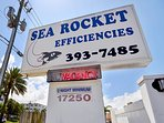Sea Rocket Sign from Gulf Blvd
