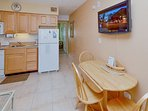 Dining Space and Flat Screen TV