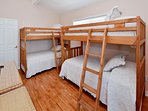 Guest bedroom with two bunk beds