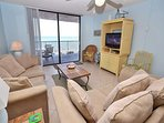 Living room with Gulf views!