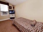 Second floor bedroom with twin bed