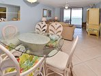 Dining area with views of the Gulf!