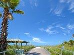 Madeira Beach Public Access is just across the street