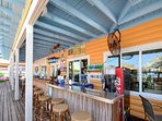 Madeira Beach Snack Bar is just across the street