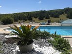 la piscine et son panorama
