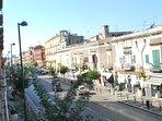 Veduta dal balcone in direzione via Marina