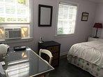 Downstairs queen bedroom with desk