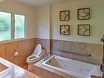 Soak your cares away in this lavish bathtub