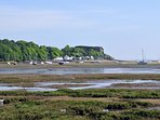 View from Shore cottage at low tide