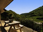 View from Cwm Tydu holiday cottage