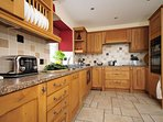 Kitchen at this stylish holiday home for families