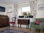 Strumble Head holiday home with antique and modern furniture