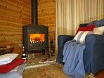 North Pembrokeshire cosy log cabin for holidays throughout the year