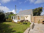 Abercastle holiday cottage with sheltered gardens and sun room