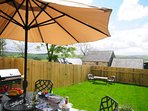 Vale of Rheidol holiday cottage - terrace