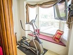 Master Bedroom looking out to pool Elliptical Trainer