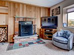 The fireplace and entertainment system