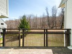 Outdoor deck w/ access to the ski trails