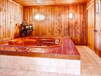 Indoor private hot tub room