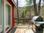 Outside deck with gas grill