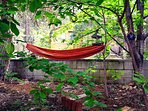 Backyard hammock and retreat