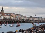 le port un jour de départ du Vendée Globe