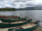 Kayak hire at Luss on the banks of Loch Lomond. 30mins from cottage