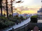 Sunset ocean view from front porch patio