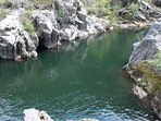 Camp Nine Swimming hole in Murphys