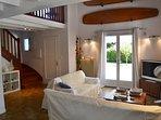 Open lounge with mezzanine